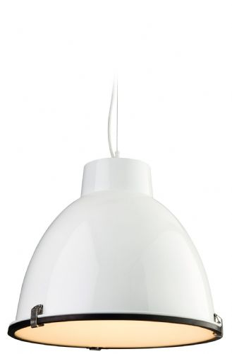 Firstlight 8621WH White with Frosted Glass Manhattan Pendant